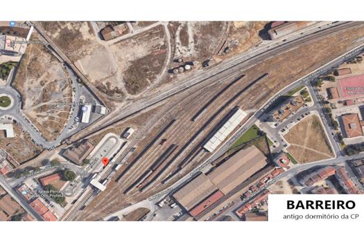 Câmara municipal do Barreiro quer requalificar armazém e antigo dormitório da CP