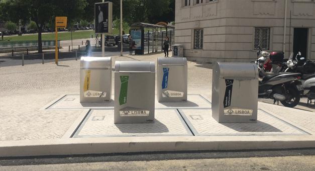 Em Lisboa, os contentores vão  dar sinal quando estiverem cheios