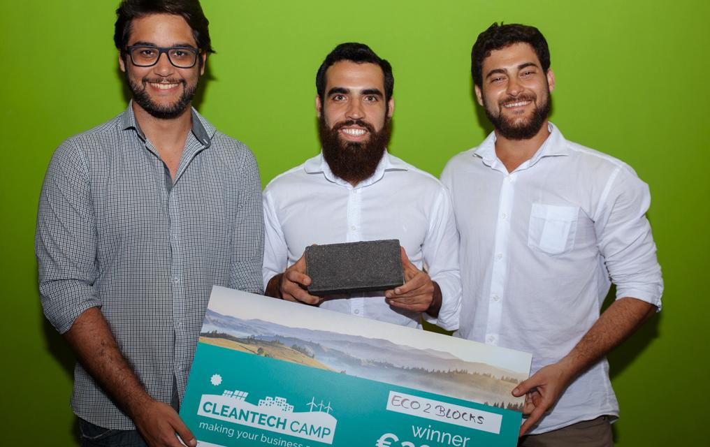 Materiais de construção recicláveis com selo nacional vencem Cleantech Camp