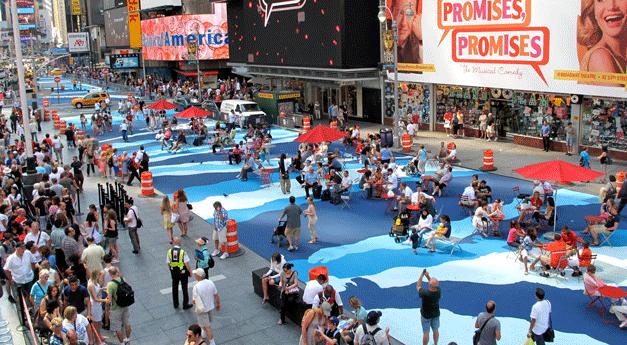 Iniciativa quer mais pinturas no asfalto para revitalizar cidades e aumentar segurança