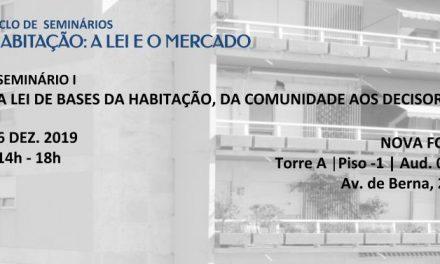 """Seminário """"Habitação: a lei e o mercado"""""""