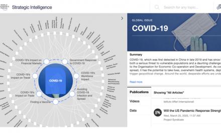 Fórum Económico Mundial cria plataforma para mobilizar resposta das empresas à pandemia