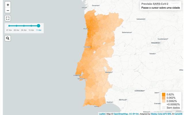 Investigadores da Universidade de Lisboa lançam mapa de risco de propagação da covid-19