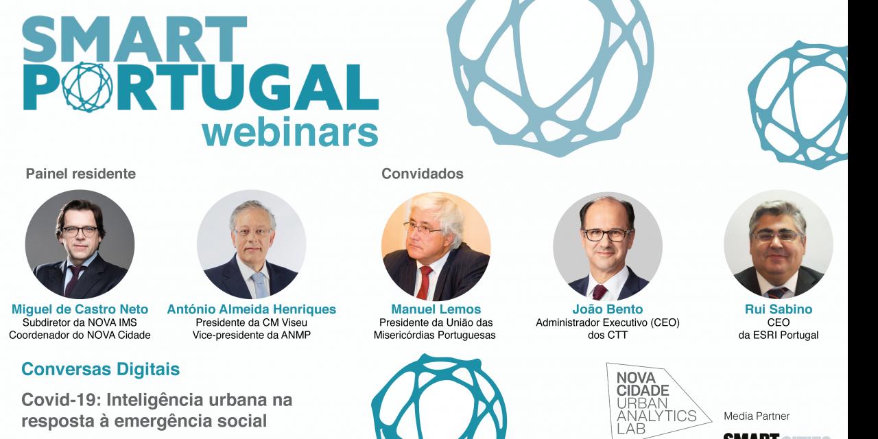 A resposta smart à emergência social em tempo de pandemia é o mote do segundo SMART Portugal webinar