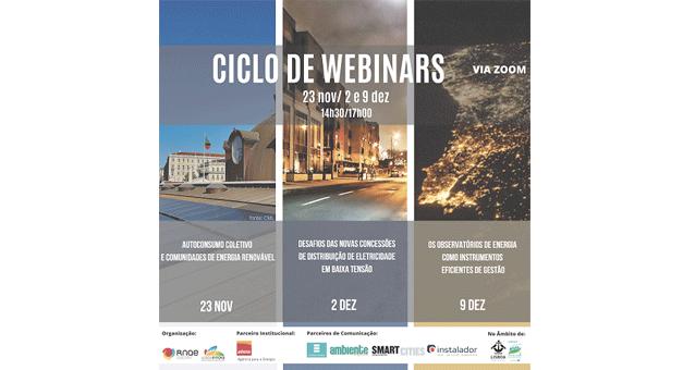 Ciclo webinars da RNAE  – energia em primeiro plano